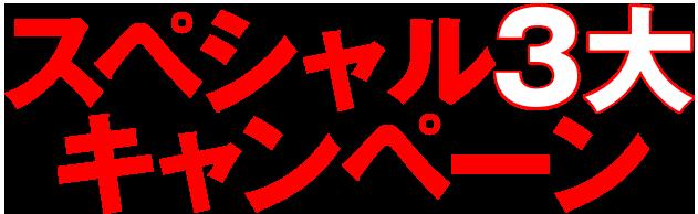 3大スペシャルキャンペーン